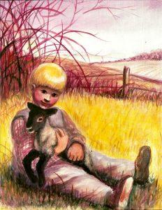 Dave Mason and a lamb